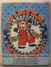 Mary Engelbreit Christmas Notecards Winter Schminter! 6 Cards & Envelopes New