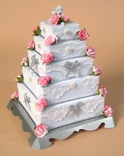 A4 Card Making Templates for 3D 5 Tier Wedding Cake & Display  by Card Carousel