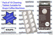 Krups XS3000 Cleaning Tablets - Part No XS300010 KAXS300010- Pk10 - GENUINE