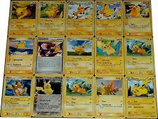 CARTE POKEMON lot de 15 cartes PIKACHU Lot N° PIKA15 001