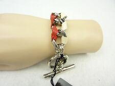 MIMCO Jewellery Punk Block Chain Wrist/ Bracelet BNWT- in Scarlet- rrp$99.95