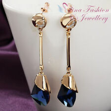 Glass Yellow Gold Plated Fashion Earrings