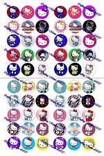 "60 Precut 1"" Hello Kitty Bottle cap Images Set 2"