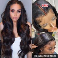 Elegant 100% Peruvian Remy Human Hair Wigs Body Wavy 13X4 Lace Front Wig Women C