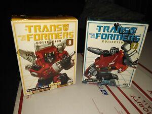 G1 Transformers reissue TFC 7 Sideswipe 8 Inferno lot Mib bookstyle Takara