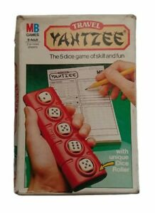 Vintage MB Games Travel Yahtzee 5 Dice Game Of Skill and Fun (1983)