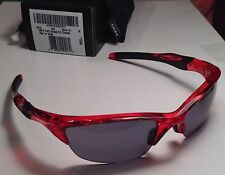 Oakley Half Jacket 2.0 Crystal Red Grey NEW Sunglasses OO9144-20 NEW Clear Round