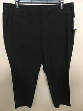 (NWT) Style&Co Women's Plus Size 24W Black Mid Rise Ankle Length Stretch Pants