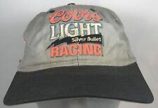 Vintage Coors Light Racing Hat Cap Silver Bullet Grey Gray Snapback Worn