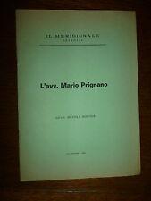 AVV. MARIO PRIGNANO dall. MICHELE PRIGNANO 1969 estratto Brindisi Bari