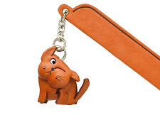 Scratching Cat Plain Leather Charm Bookmarker *VANCA* Made in Japan #61412
