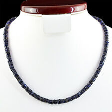 TOP CLASS 115.00 CTS NATURAL RICH BLUE TANZANITE UNTREATED ROUND BEADS NECKLACE