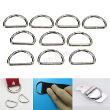 10Pcs Metal D Ring D-rings Purse Buckles For Clothes Bag Case Strap Web Belt