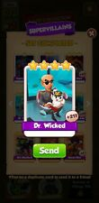 50 x Dr Wicked  Coin Master Cards ( Fast Delivery)