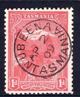 Tasmania nice 1909 NUBEENA pmk (type 1) on 1d pictorial rated C (2)