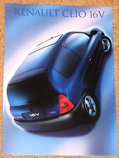 1999 RENAULT CLIO 16V Sales Brochure - Mint Condition Brand New Old Stock!