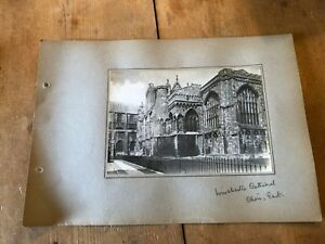 ANTIQUE/VINTAGE PHOTO OF CHOIR EAST AT WINCHESTER CATHEDRAL (ENGLAND) A4-SIZED