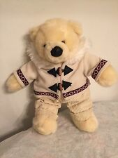 "Soft 16"" DAN DEE Collector's Choice Eskimo Teddy Bear Cream Animal Stuffed Plush"