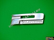 """ P "" CHROME METAL CADILLAC EMBLEM BADGE  PLATINUM TRUNK REAR DOOR FENDER NEW"