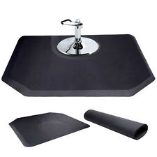 "5'x4' 1/2"" Black Thick Barber Salon Anti Fatigue Floor Mat Semi Hexagan New"