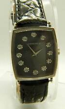 Vintage Solid 14k White Gold Longines With Diamond Dial Watch Hand Wind Movement