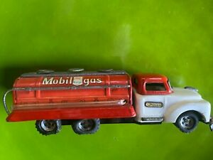 """1950s Bandai Japanese Tin Mobil Gas Tank Truck; Very Good Condition; 9"""""""