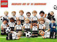 Lego 71014 DFB Mannschaft Germany Football Team Complete Set Of 16 Minifigures