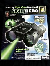 BRAND NEW Atomic Beam Night Hero As Seen On TV Night Vision Laser Binoculars 10x