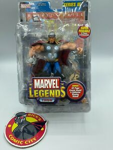 Thor Marvel Legends Series III Action Figure Still in Beat Up Package