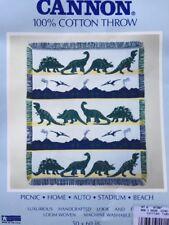 New Dinosaur Throw Blanket Kids 100% Cotton Multi Color Multi Dinosaur 50x60