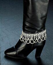 Boot Anklet - Boot Jewelry Chain w/ Bells (Silver or Gold)