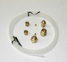 """MECHANICAL OIL PRESSURE GAUGE INSTALLATION KIT with FITTINGS & 72"""" TUBING NEW"""