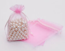 100/200/500 Pink Organza Wedding Party Favor Gift Candy Sheer Bags Jewelry Pouch
