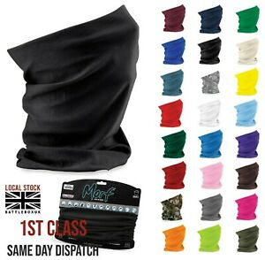 Face Mask Snood Beechfield Morf Washable Scarf Breathable Cover Protection Adult