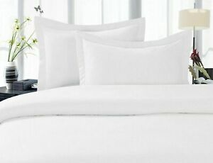 800 TC 100% Egyptian Cotton White Solid Duvet Cover Set & ALL SIZE BEDDING'S