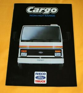 IVECO Ford Cargo Non-HGV 1987 (GB) LKW Prospekt Truck Brochure Camion Catalog