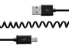 Spiral Ladekabel für Samsung Galaxy S6 S7 USB 2.0 Schnellladegerät Daten Kabel
