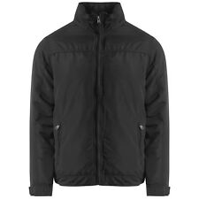 MENS PILOT JACKET CONCEALED HOODED WARM PADDED LINED COLLAR CASUAL FLIGHT COAT