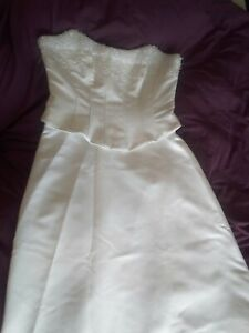 White wedding dress skirt and bodice top