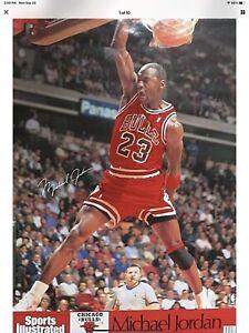 "Vintage 1990 Michael Jordan Chicago Bulls Sports Illustrated Poster 24"" X 36"""