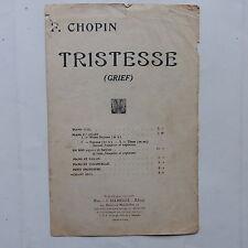 Partition chopin tRISTESSE   ( GRIEF )