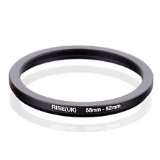 RISE(UK) 58mm to 52mm 58-52mm Step-Down Lens Filter Ring Adapter Metal Adaptor