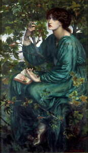 Dante Gabriel Rossetti The Day Dream Poster Reproduction Giclee Canvas Print