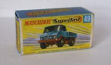 Repro Box Matchbox Superfast Nr.49 Unimog