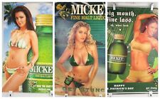 3 Michkeys Beer Bar Pub Home Posters Cafe 2 x 8 x 26; 1 x 23 x 35 Flaws Lot