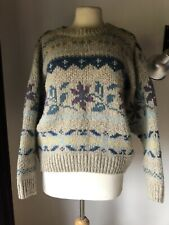 Vintage Laura Ashley Fairisle Shetland Wool Cropped Jumper M/L