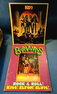 Vtg BANANAS Magazine #18 Rock & Roll Kiss! Elton! Elvis! / KISS LOVE GUN Poster