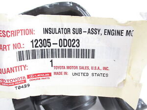 Genuine OEM Toyota 12305-0D023 Passenger Side Mount Motor 03-08 Corolla & Matrix