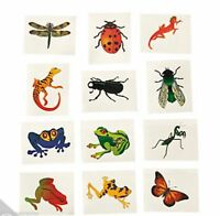 BUG & INSECT PARTY Bugs Beetle Fly Frog Lizard Tattoos Pack of 36 Free Postage