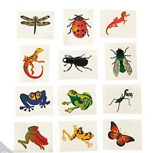 BUG & INSECT PARTY Beetle Fly Frog and Lizard Tattoos Pack of 36 Free Postage